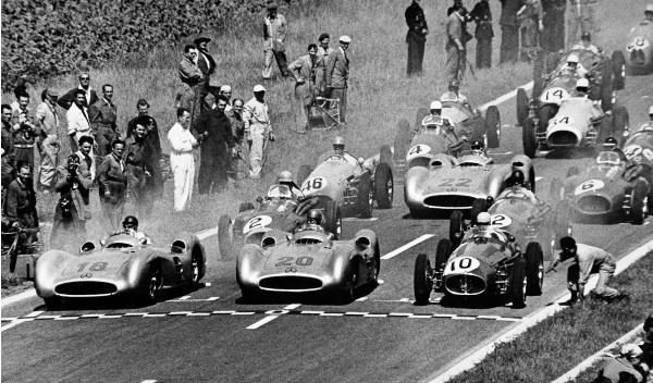 Salida del GP de Reims de 1954