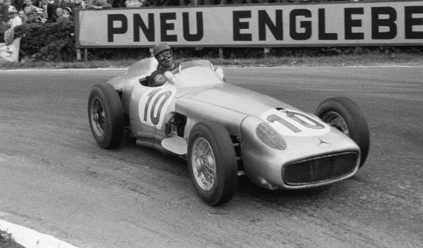 Juan Manuel Fangio en Spa, 1955
