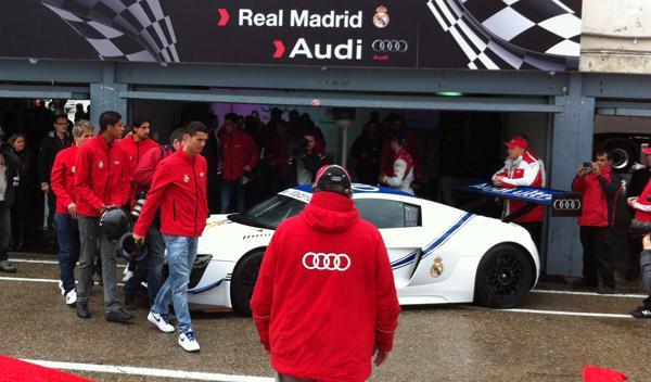 entrega coches audi jugadores real madrid Audi R8 LMS