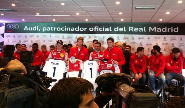 entrega coches audi jugadores real madrid Casillas y Sergio Ramos, con Marc Gené
