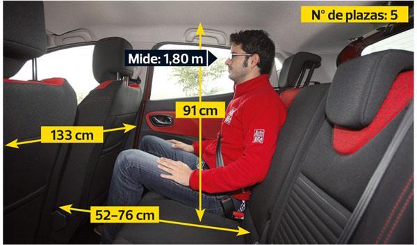 Renault Clio interior plazas traseras