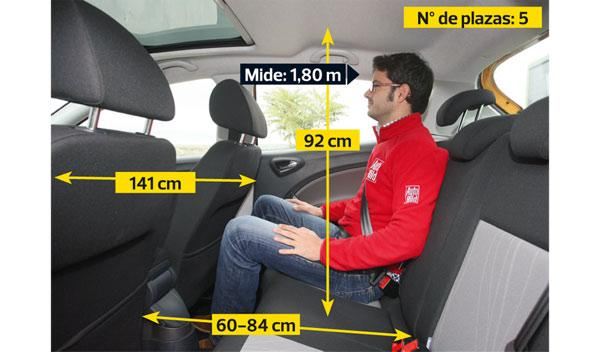 Seat Ibiza interior plazas traseras