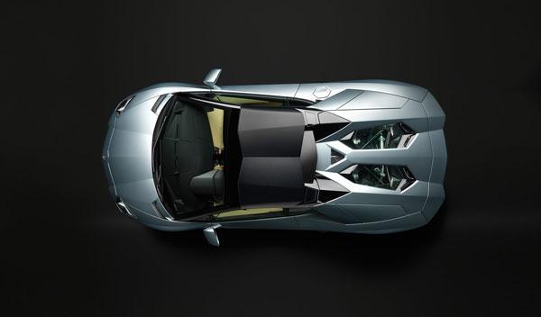 Lamborghini Aventador LP 700-4 Roadster vista superior techo