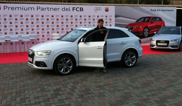 Audi Q3 Tito Vilanova Entrega audi jugadores barcelona temporada 2012/2013