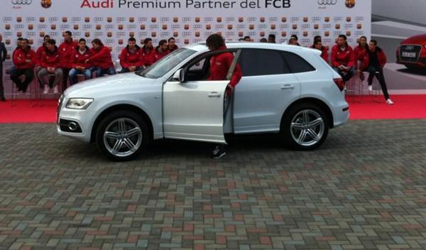 Audi Q5 pujol Entrega audi jugadores barcelona temporada 2012/2013