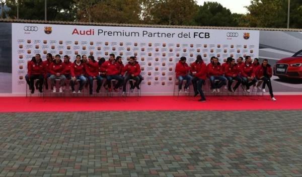 Entrega audi jugadores barcelona temporada 2012/2013