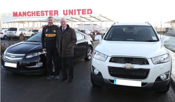 Alex Ferguson Bobby Charlton Chevrolet