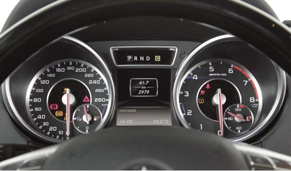 Mercedes G 63 AMG, cuadro de mandos