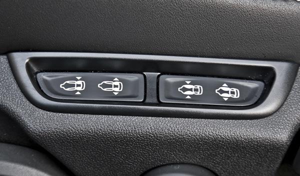 Opel Astra OPC 2012 botón asiento