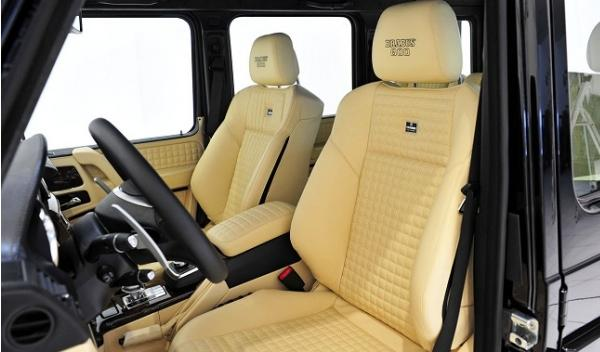 Mercedes G65 AMG Brabus 800 Widestar, asientos