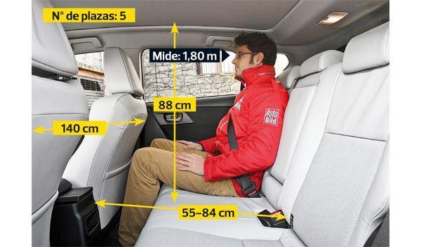 Toyota Auris Hybrid interior plazas traseras