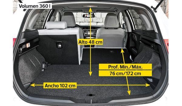Toyota Auris Hybrid interior maletero