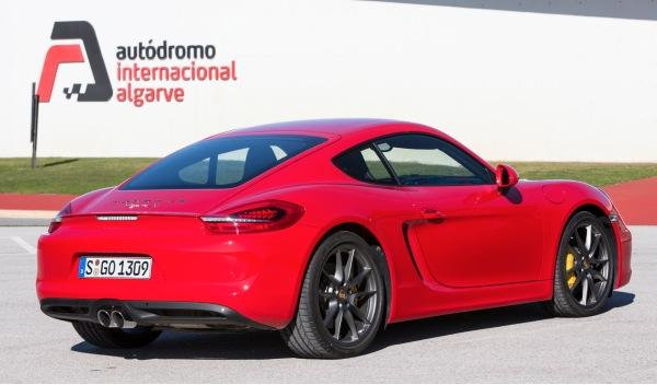 Porsche Cayman 2013 trasera