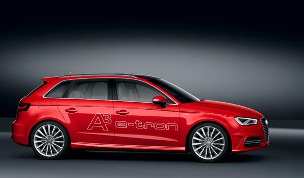 Audi A3 e-tron lateral salon de ginebra 2013