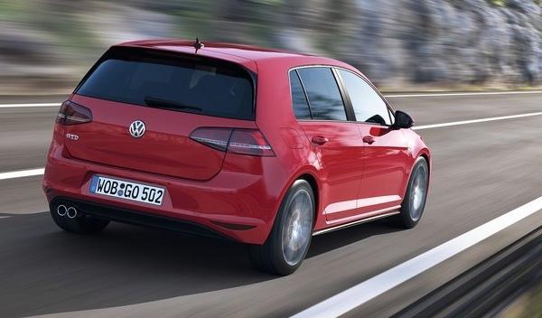 Trasera del Volkswagen Golf GTD 2013