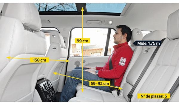 Range Rover 2013 plazas traseras