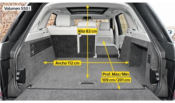 Range Rover 2013 maletero