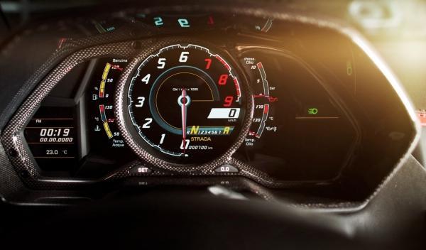 Lamborghini Aventador, panel de instrumentos