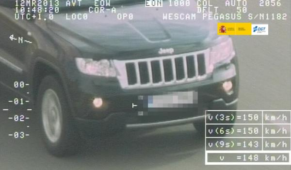 Pegasus radar DGT helicóptero Jeep