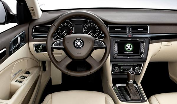 Skoda Superb 2013 interior