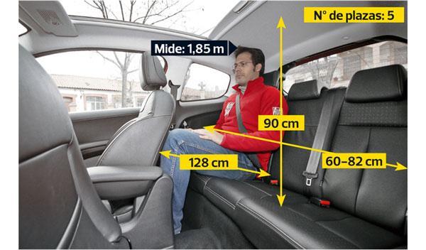 Peugeot 208 THP plazas traseras