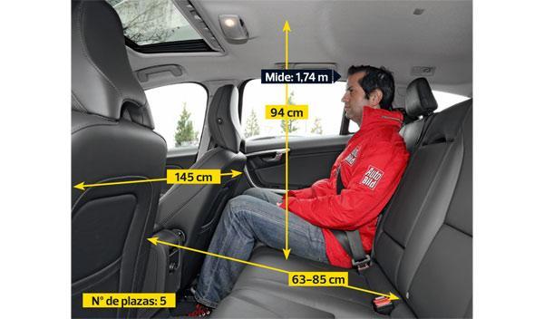 Volvo V60 D3 Summum plazas traseras