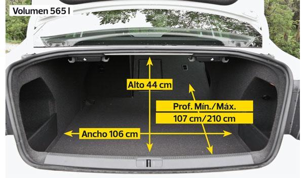 Volkswagen Passat R Line 2.0 TDI DSG maletero