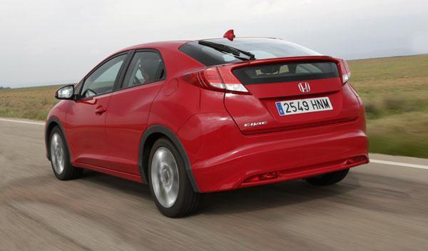 Honda Civic 1.6 i-DTEC trasera