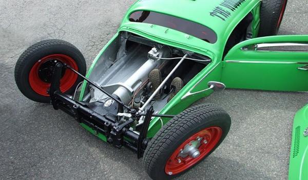 volkswagen escarabajo tuning con suspensión modificada