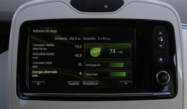 Renault ZOE pantalla