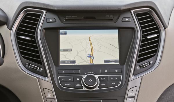 Hyundai Santa Fe navegador