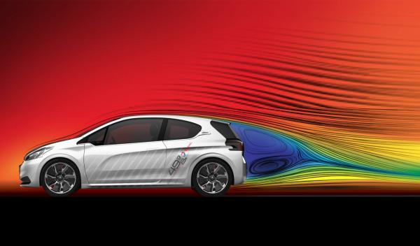 Peugeot 208 Hybrid FE imagen tunel de viento