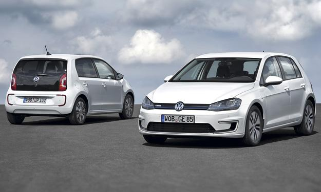 Volkswagen e-Golf y e-up! trasera