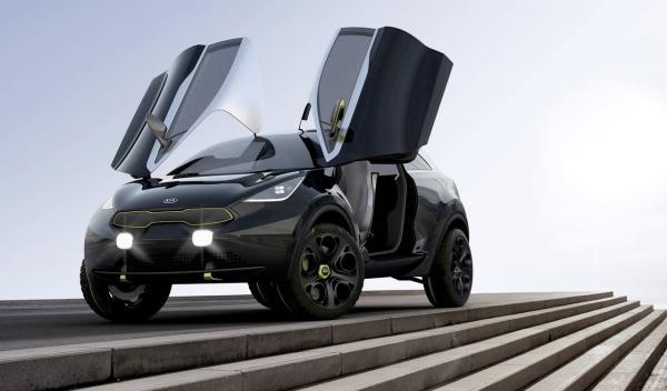 Kia Niro Concept puertas alas de gaviota