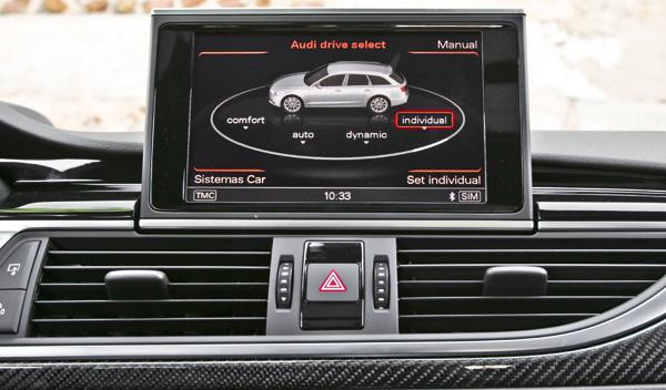 Audi RS6 Avant drive select