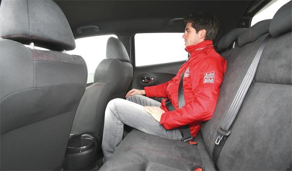 Nissan Juke Nismo plazas traseras