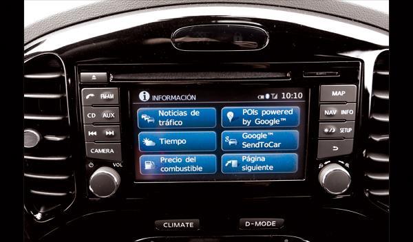 Nissan Juke Nismo detalle pantalla