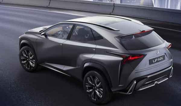 Lexus LF-NX Turbo trasera