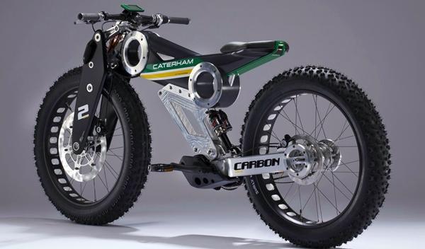 Caterham Carbon E-Bike trasera