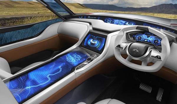 Interior del Mitsubishi GC-PHEV Concept