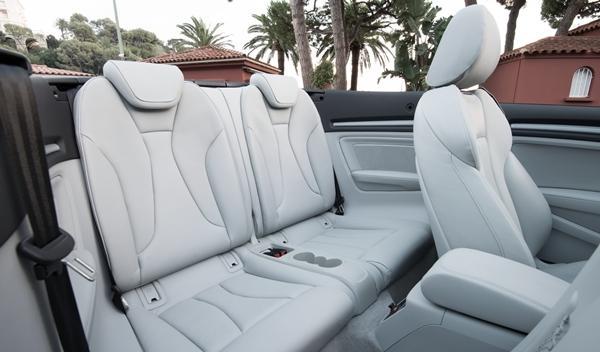 Audi A3 Cabriolet 2014 interior plazas traseras