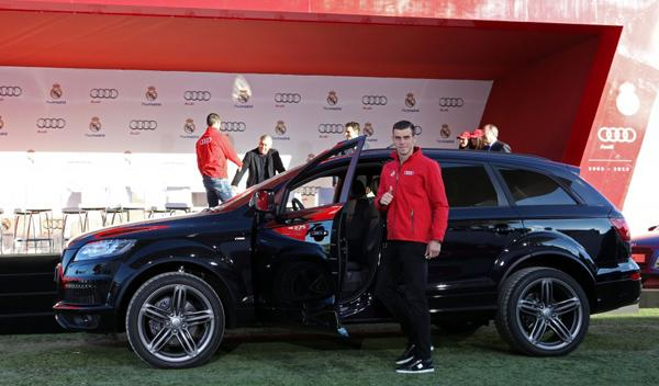 entrega coches audi jugadores real madrid Bale