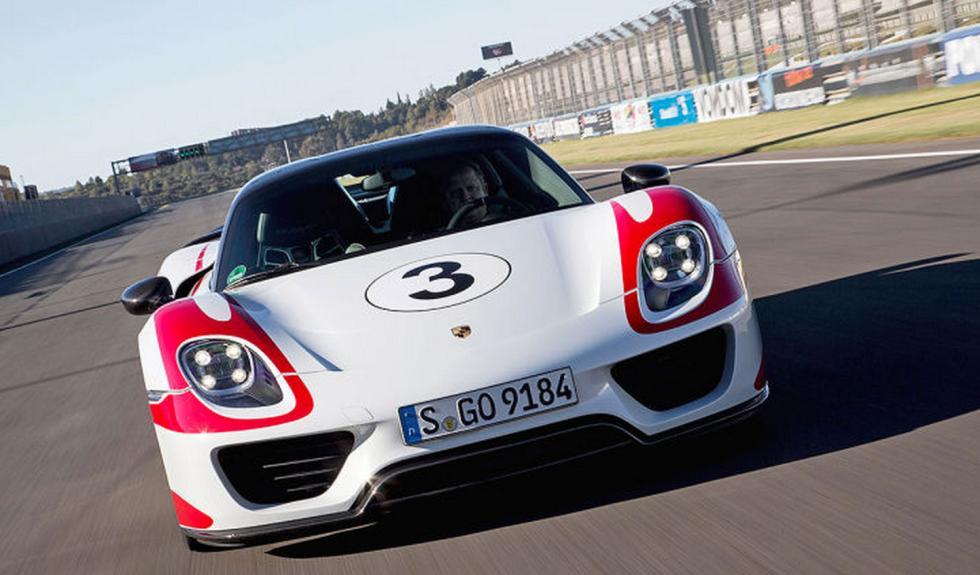Porsche 918 Spyder delantera