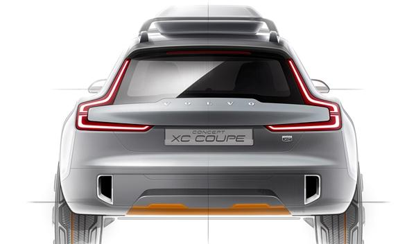 Volvo XC Coupe concept trasera