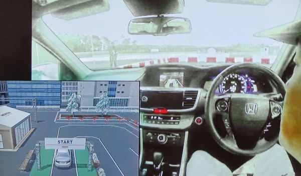 interior prototipo conducción autónoma honda
