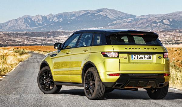 Range Rover Evoque Sicilian Yellow Si4 trasera