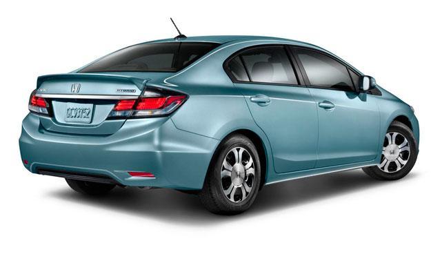 Honda Civic Hybrid trasera