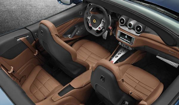 Ferrari California T habitaculo
