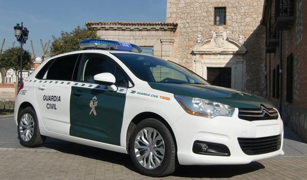 Citroën C4 Guardia Civil frontal