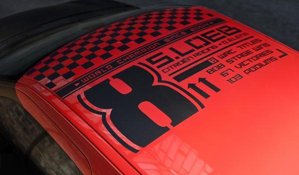 Citroën DS3 Racing S. Loeb adhesivo conmemorativo